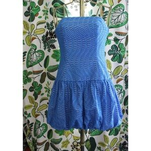 Lilly Pulitzer Emma Eyelet Drop Waist Bubble Dress
